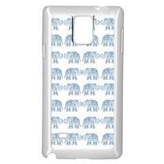 Indian elephant  Samsung Galaxy Note 4 Case (White)