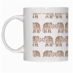 Indian elephant White Mugs