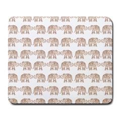 Indian elephant Large Mousepads