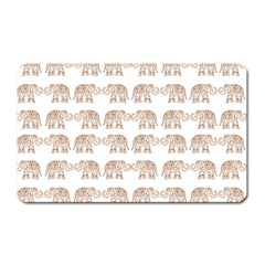 Indian elephant Magnet (Rectangular)