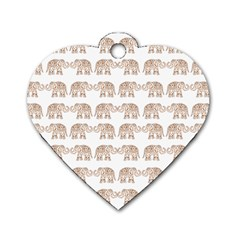 Indian elephant Dog Tag Heart (One Side)