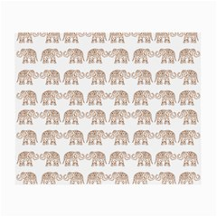 Indian elephant Small Glasses Cloth (2-Side)