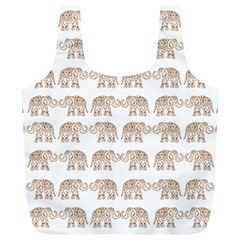 Indian Elephant Full Print Recycle Bags (l)