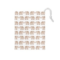 Indian elephant Drawstring Pouches (Medium)
