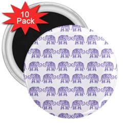 Indian elephant pattern 3  Magnets (10 pack)