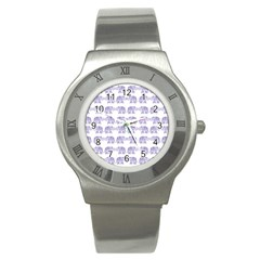 Indian elephant pattern Stainless Steel Watch