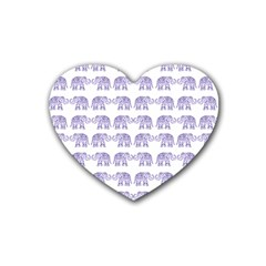 Indian elephant pattern Heart Coaster (4 pack)