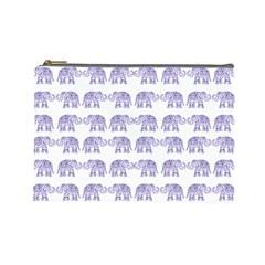 Indian elephant pattern Cosmetic Bag (Large)