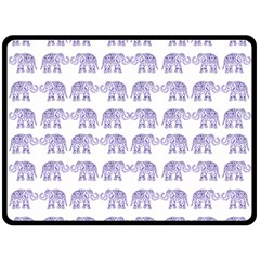 Indian elephant pattern Fleece Blanket (Large)