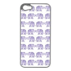 Indian elephant pattern Apple iPhone 5 Case (Silver)