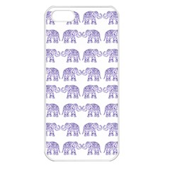 Indian elephant pattern Apple iPhone 5 Seamless Case (White)