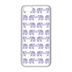 Indian elephant pattern Apple iPhone 5C Seamless Case (White)