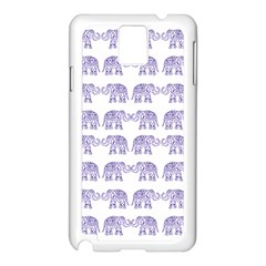 Indian elephant pattern Samsung Galaxy Note 3 N9005 Case (White)