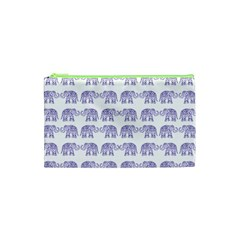 Indian elephant pattern Cosmetic Bag (XS)