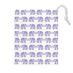 Indian elephant pattern Drawstring Pouches (Extra Large)