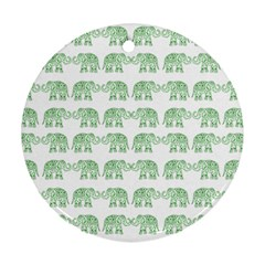 Indian elephant pattern Ornament (Round)