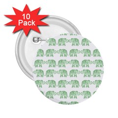 Indian elephant pattern 2.25  Buttons (10 pack)