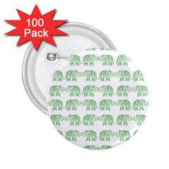 Indian elephant pattern 2.25  Buttons (100 pack)
