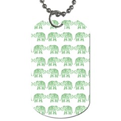 Indian elephant pattern Dog Tag (One Side)