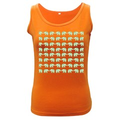 Indian elephant pattern Women s Dark Tank Top