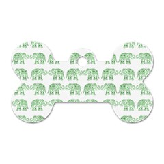 Indian elephant pattern Dog Tag Bone (Two Sides)