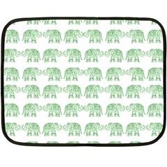 Indian elephant pattern Fleece Blanket (Mini)