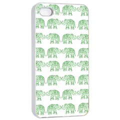 Indian elephant pattern Apple iPhone 4/4s Seamless Case (White)