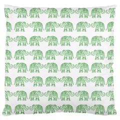 Indian elephant pattern Large Flano Cushion Case (One Side)