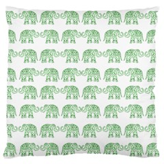 Indian elephant pattern Large Flano Cushion Case (Two Sides)