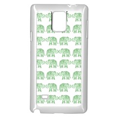 Indian elephant pattern Samsung Galaxy Note 4 Case (White)