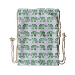 Indian elephant pattern Drawstring Bag (Small)