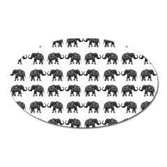 Indian elephant pattern Oval Magnet