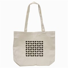 Indian elephant pattern Tote Bag (Cream)
