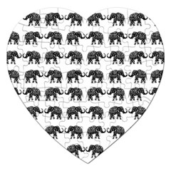 Indian elephant pattern Jigsaw Puzzle (Heart)