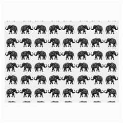 Indian elephant pattern Large Glasses Cloth (2-Side)
