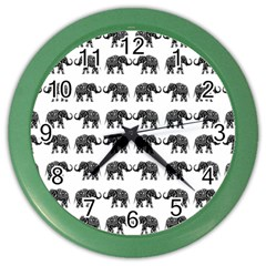 Indian elephant pattern Color Wall Clocks
