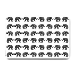 Indian elephant pattern Small Doormat