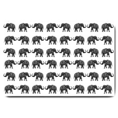 Indian elephant pattern Large Doormat