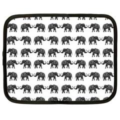 Indian elephant pattern Netbook Case (Large)