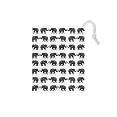 Indian elephant pattern Drawstring Pouches (Small)