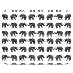 Indian elephant pattern Double Sided Flano Blanket (Medium)