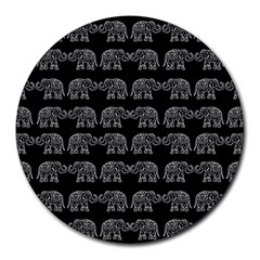 Indian elephant pattern Round Mousepads