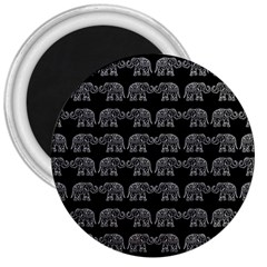 Indian elephant pattern 3  Magnets