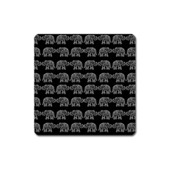 Indian elephant pattern Square Magnet