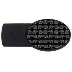 Indian elephant pattern USB Flash Drive Oval (4 GB)
