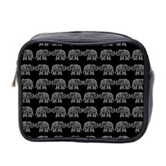 Indian elephant pattern Mini Toiletries Bag 2-Side