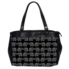 Indian elephant pattern Office Handbags (2 Sides)