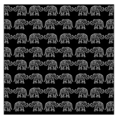 Indian elephant pattern Large Satin Scarf (Square)