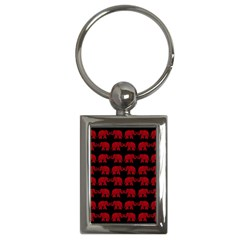 Indian elephant pattern Key Chains (Rectangle)