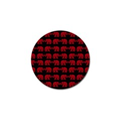 Indian elephant pattern Golf Ball Marker (4 pack)